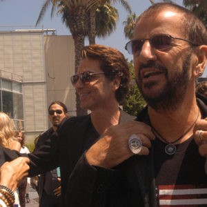 Ringo Starr celebrates his birthday with friends during his Peace and Love Celebration at Capitol Records, Hollywood.  July 7, 2016.