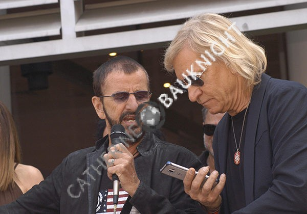 Joe Walsh celebrates with Ringo Starr (his brother-in-law) at his Peace and Love Celebration and birthday at Capitol Records, Hollywood 7/7/16.